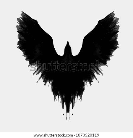 black raven ink crow