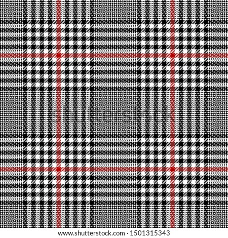 Black,Red and White tartan plaid Scottish seamless pattern.Texture from plaid,tablecloths,clothes,shirts,dresses, jacket,skirt,paper,bedding,blankets and other textile products.Glen plaid.Tweed fabric