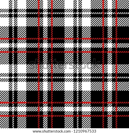 Black,red and white tartan plaid Scottish seamless pattern.Texture from tartan, plaid, tablecloths, clothes, shirts, dresses, paper, bedding, blankets and other textile products.