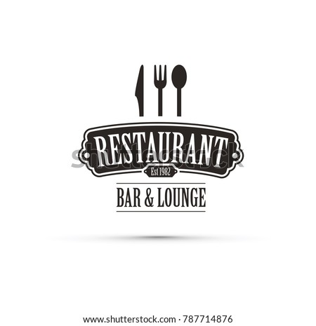 black restaurant logo
