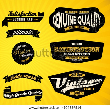 Black Retro labels.
