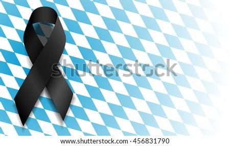 black ribbon on bavarian flag