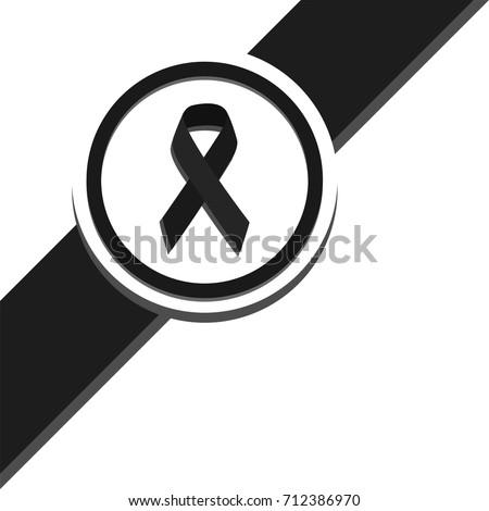 black ribbon top left corner
