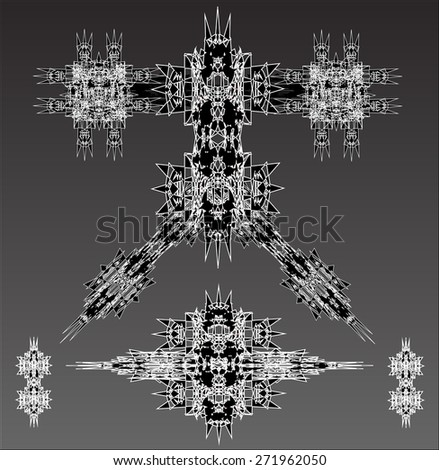 black robots vector set