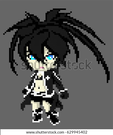 black rock shooter pixel