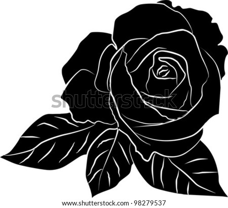 rose silhouette - download free vector art, stock graphics & images