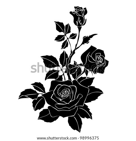 Roseroyalty Flowers on Rose Vector Image