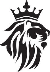 Black royal lion vector, vynil silhouette  design