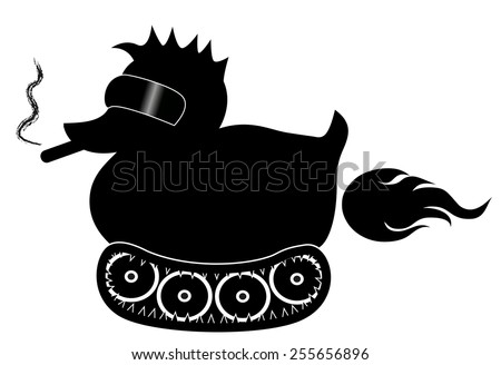 Rubber Duck Vector Black Black Rubber Duck With Cool