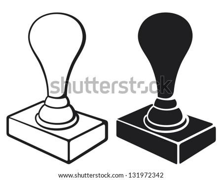 black rubber stamp
