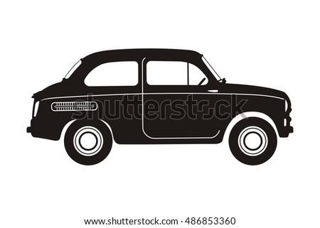 black russian retro car on the