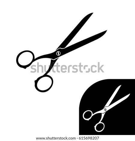 black scissors white back