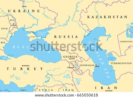 Eastern europe map vector download free vector art stock black sea and caspian sea region political map with capitals international borders rivers and gumiabroncs Image collections