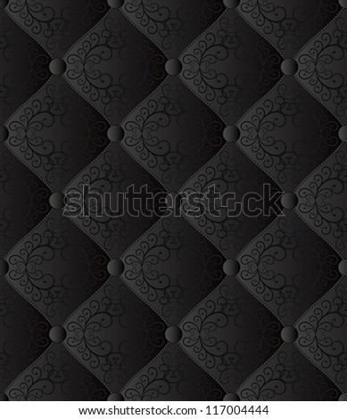 black seamless background - quilted fabric