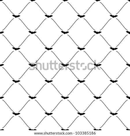 Black seamless pattern with bat symbol, vector, 10eps.