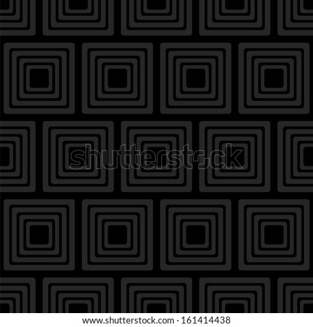 Black seamless pattern with squares. Vector illustration