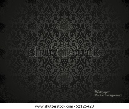 Black Seamless wallpaper pattern