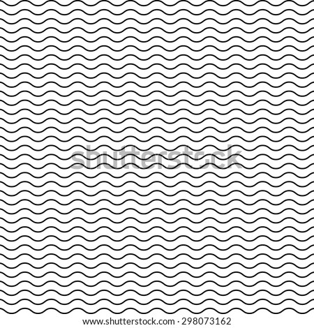 black seamless wavy line pattern