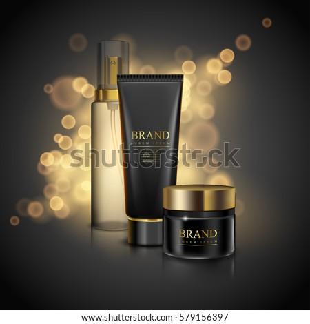 Black series cosmetics template