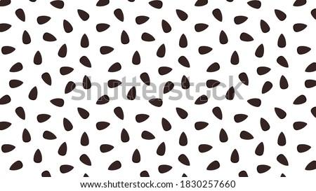 Black sesame seeds pattern wallpaper. Black sesame seeds on white background. Foto stock ©
