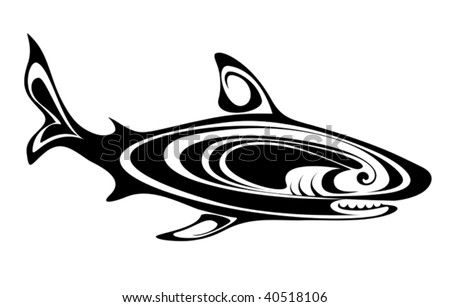 Black And White Abstract Designs Tattoo Black Shark Tattoo For Design