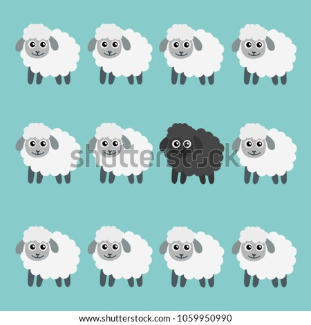 black sheep in the flock vector