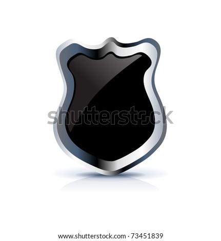 Black Shield Icon On White Stock Vector Illustration 73451839 ...