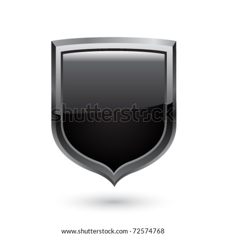 Black shield. Vector