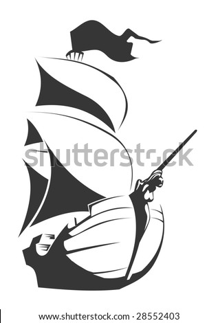 black ship in vector format