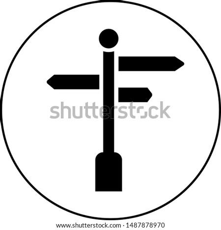 Black Signpost icon vector design