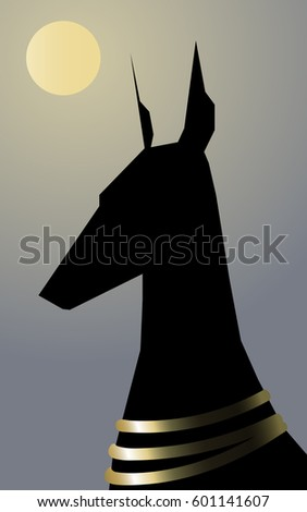 black silhouette head and neck