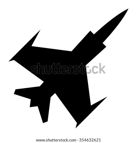black silhouette military