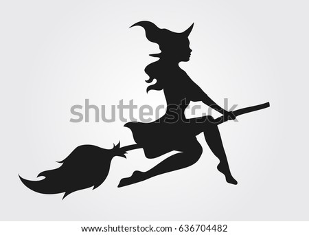 flying witches silhouettes download free vector art stock