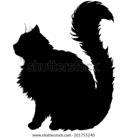 black silhouette of a cat with