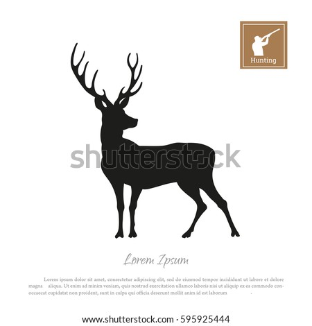 black silhouette of a deer on a