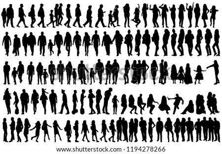black silhouette of a man, set