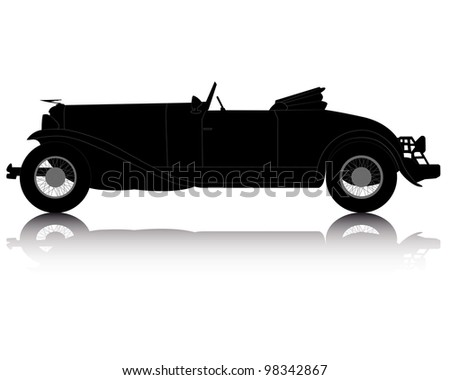 Classic Car Silhouette Download Free Vector Art Stock Graphics