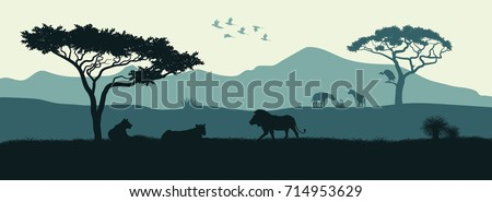 black silhouette of animals of