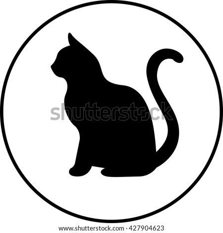 stock-vector-black-silhouette-of-cat