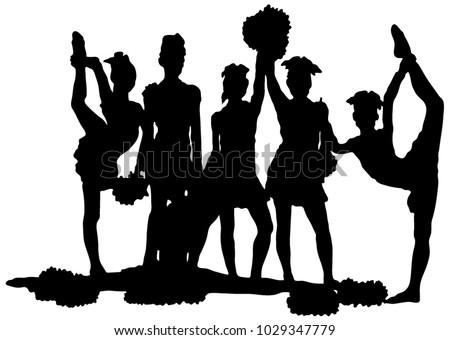black silhouette of girl