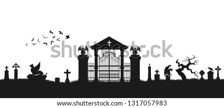 black silhouette of gothic