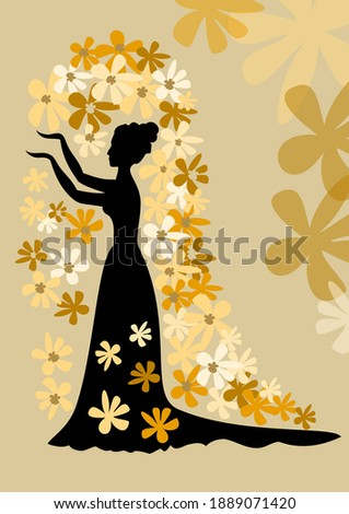 black silhouette of lady with