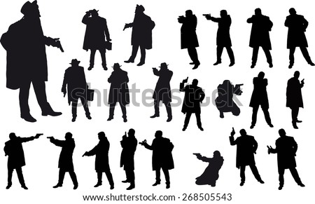 black silhouette of man with