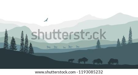 black silhouette of mountain