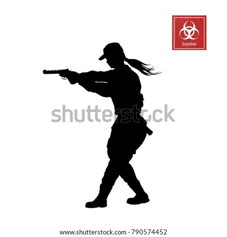 black silhouette of police