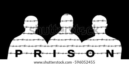 black silhouette prisoner