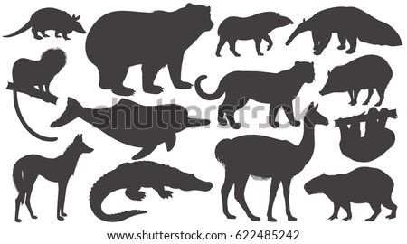 black silhouettes animals of