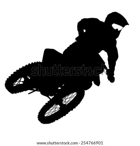 black silhouettes motocross