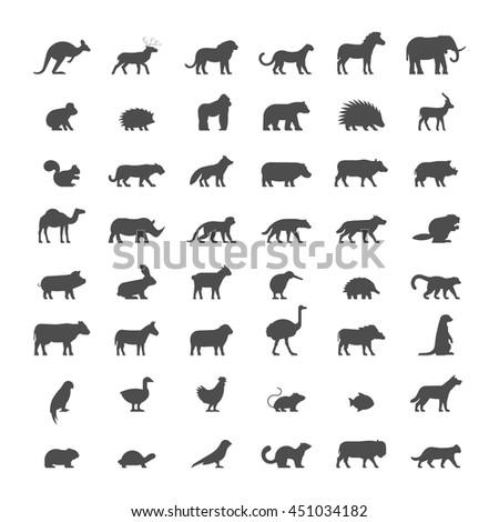 black silhouettes of australian