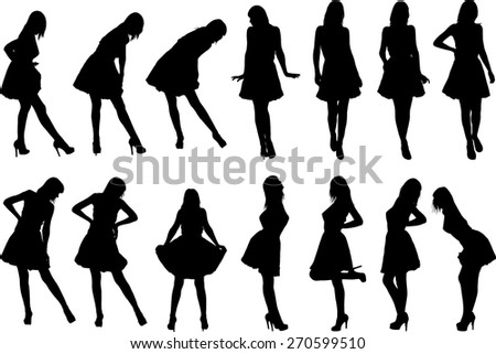 black silhouettes of girls in